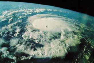 Foto de um furacão obtida por satélite