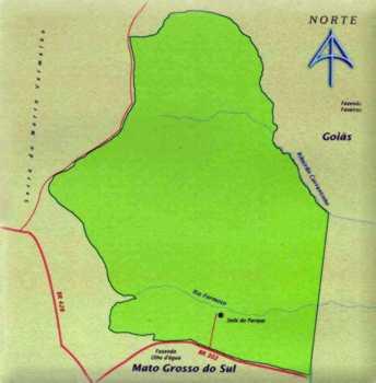 Mapa do Parque Nacional das Emas