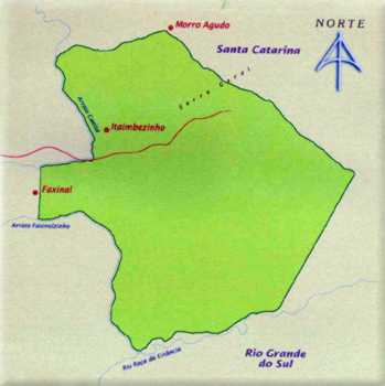 Mapa do Parque Nacional de Aparados da Serra