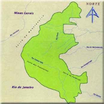 Mapa do Parque Nacional do Itatiaia