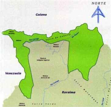 Mapa do Parque Nacional de Monte Roraima