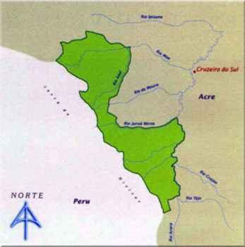 Mapa do Parque Nacional da Serra do Divisor