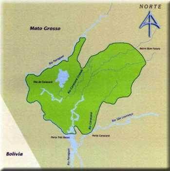 Mapa do Parque Nacional do Pantanal Matogrossense