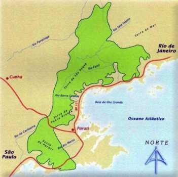 Mapa do Parque Nacional da Serra da Bocaina