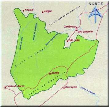 Mapa do Parque Nacional da Serra da Capivara