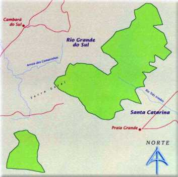 Mapa do Parque Nacional da Serra Geral