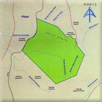 Mapa do Parque Nacional de Sete Cidades