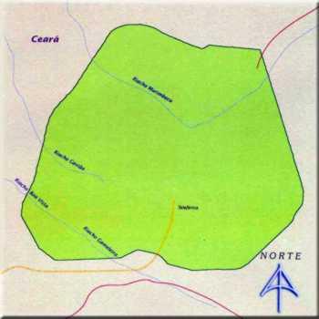 Mapa do Parque Nacional de Ubajara