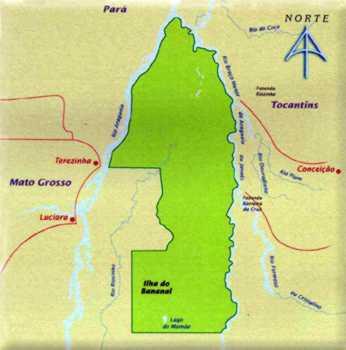 Mapa do Parque Nacional do Araguaia