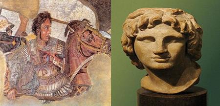 Representações distintas de Alexandre – O Grande