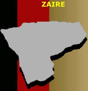 Mapa do Zaire