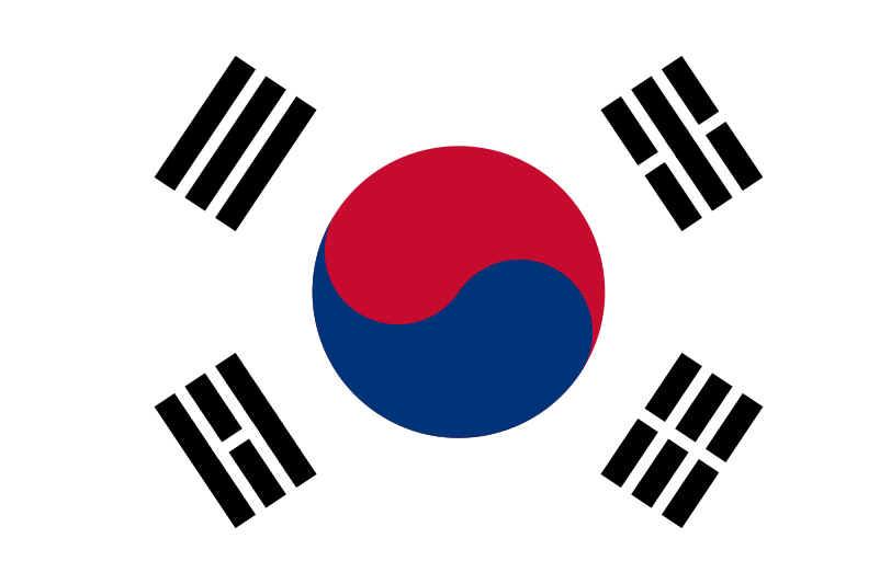 Bandeira da Coréia do Sul