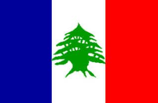 bandeira libanesa durante o Mandato francês
