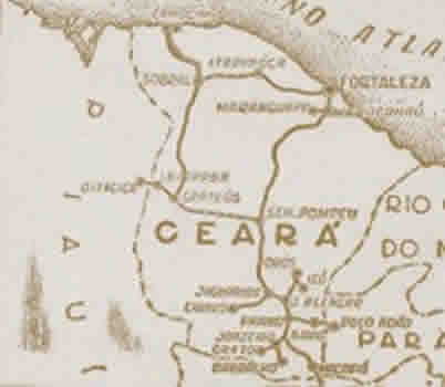 Mapa Antigo de Ceará