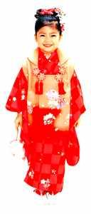 Menina com o kimono comemorativo de 3 anos - Sekaibunkasha.