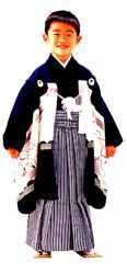 Menino com o kimono comemorativo de 5 anos - Seikaibunkasha