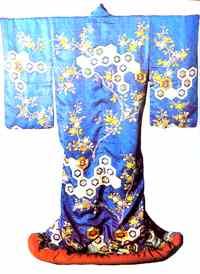 Uchikake usado em peças Nô, confeccionado no século XVIII - National Museum, Tokyo
