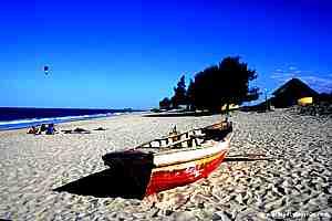 Praia da Macaneta, próximo de Maputo, Moçambique