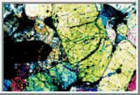 Vista Microscópica de um Meteorito Marciano