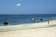 Praia na ilha de Moçambique