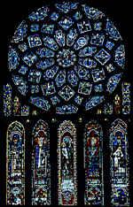 Os vitrais da catedral de Chartres (início do século XIII) formam, na França, o conjunto mais rico e mais completo da Idade Média.