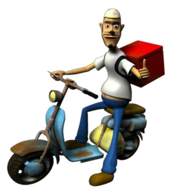 Vetor Motoqueiro Oficce Boy estilo Motocilista