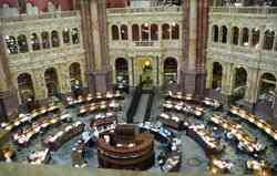 A Biblioteca do Congresso, a maior biblioteca do mundo.