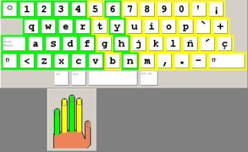 Digitação Usando a Mão Esquerda