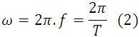 Fórmula da Frequência Angular