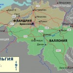 Mapa da Bélgica