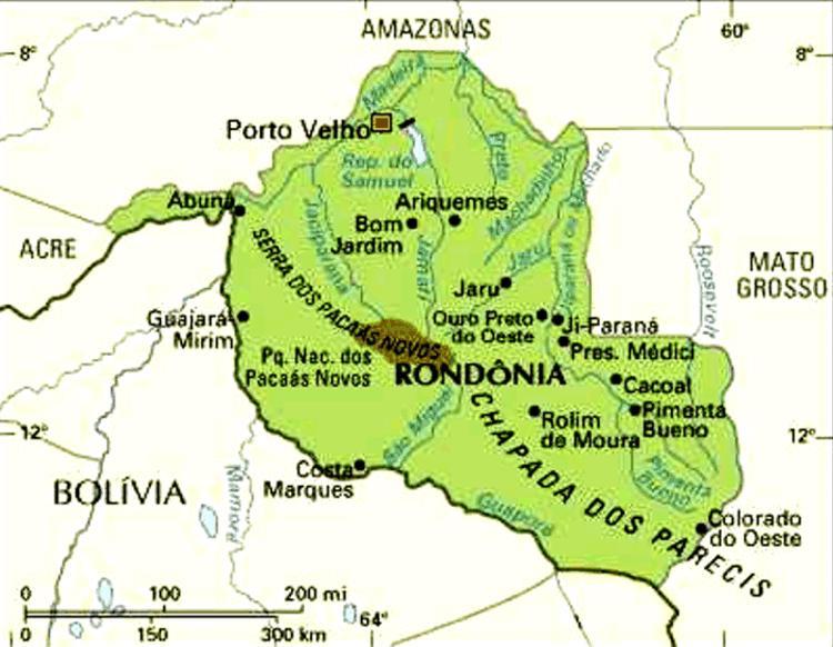 Mapa de Rondônia