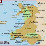 Mapa do País de Gales