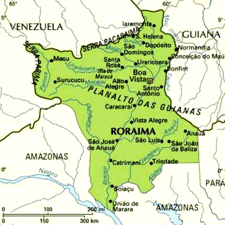 Mapa de Roraima