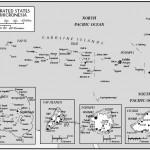 Mapa dos Estados Federados da Micronésia