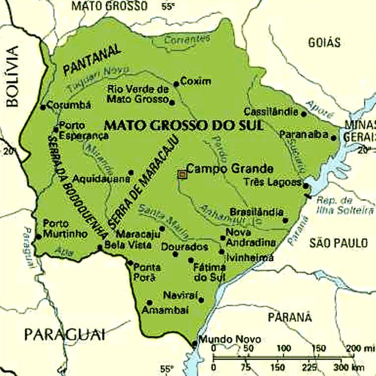 Mapa do Mato Grosso do Sul