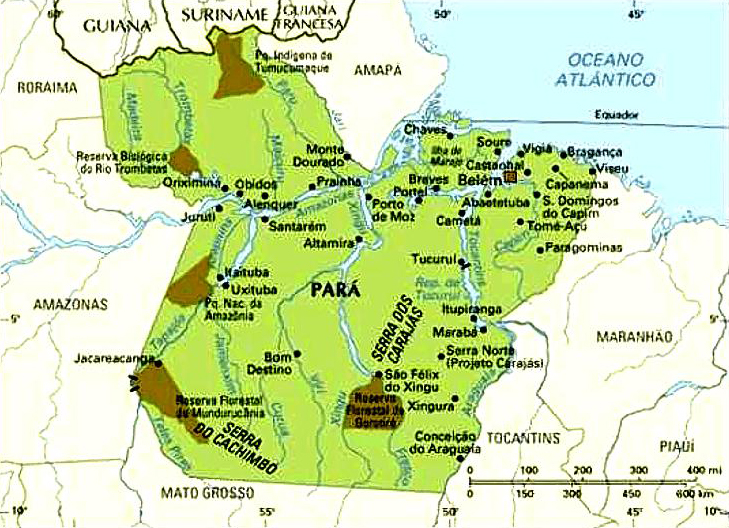 Mapa do Pará