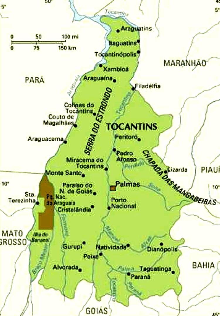 Mapa do Tocantins