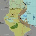 Mapa da Tunísia