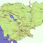 Mapa do Camboja