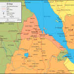 Mapa da Eritréia