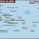 Mapa das Ilhas Salomão