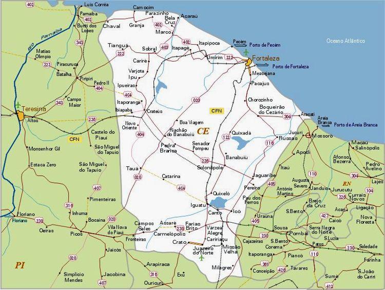 Mapa do Ceará