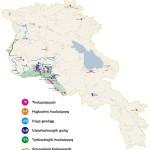 Mapa da Armênia