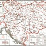 Mapa da Áustria