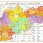 Mapa da Eslováquia