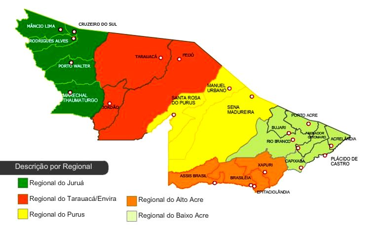 Mapa do Acre