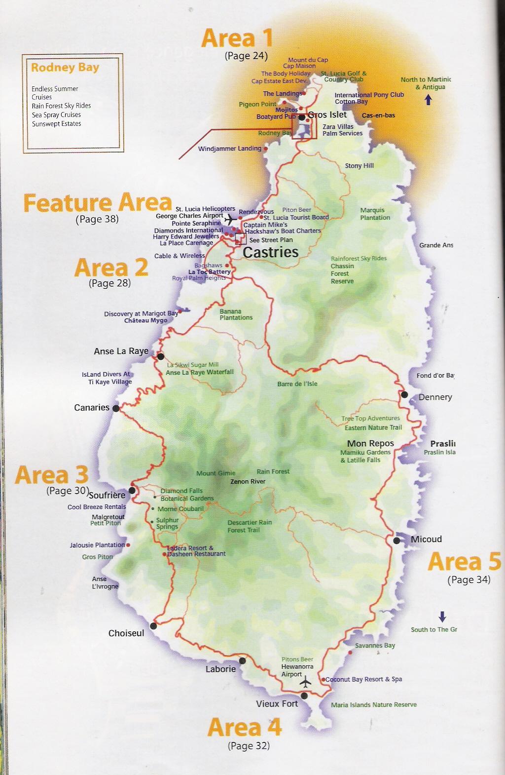 Mapa de Santa Lúcia