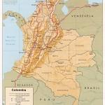 Mapa da Colômbia