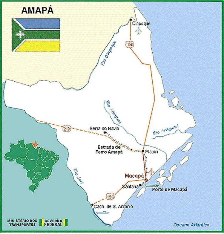 Mapa do Amapá