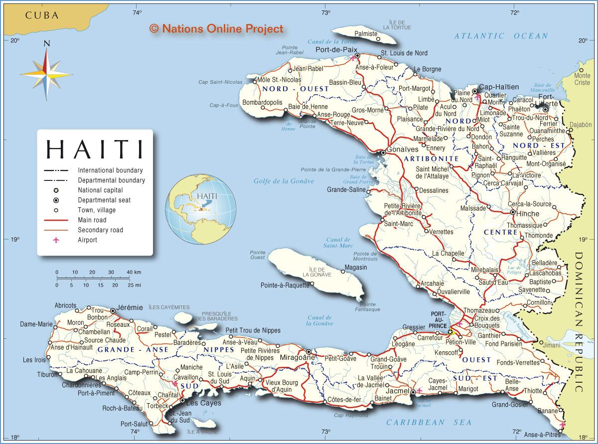 Mapa do Haiti